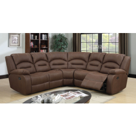 Novella Brown Fabric Sectional
